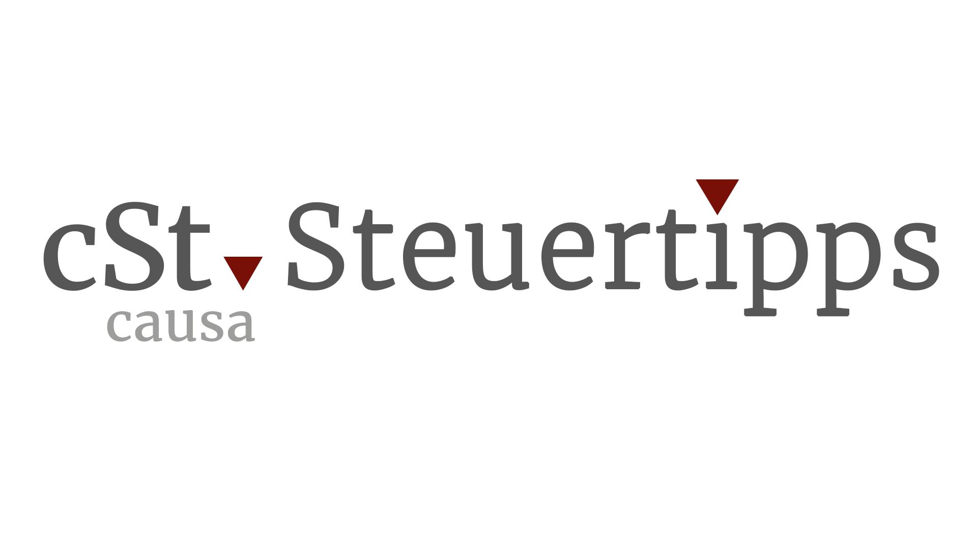 cSt Steuertipps - Header Bild