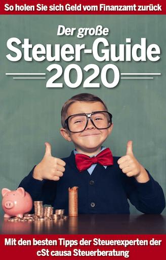 Das cover des Steuer Guide 2020
