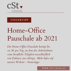 Homeoffice Pauschale