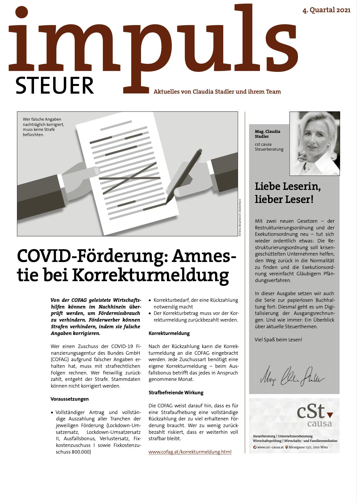 Kundenmagazin - Impuls Q4 2021 - cSt causa